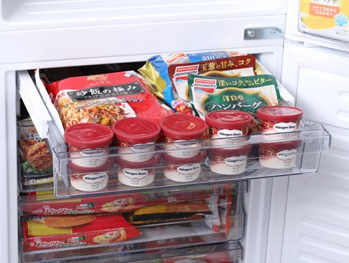 ツインバードの『2ドア冷凍冷蔵庫 ハーフ&ハーフ HR-E915PW』