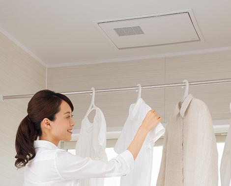 オプションで「浴室暖房乾燥機」の設置ができる