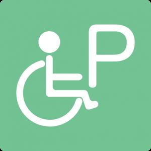 障害者用の駐車場がある