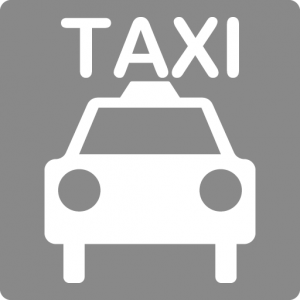 タクシーのりばがある